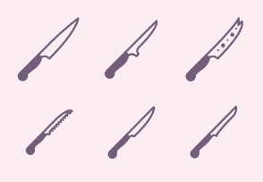 Kitchen knifes (glyph)