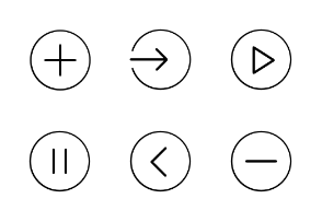 Light UI icon set
