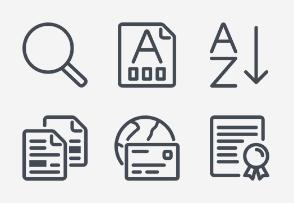 Line Design - Word Processing set 4