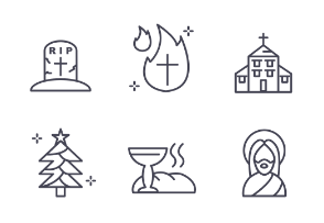 Linear church and christianity set