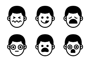 Male Emoticons Vol.1