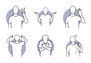 Man Actions, Body Languages, and Poses