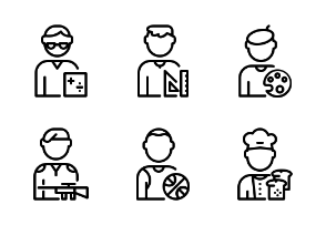 Man Worker Avatar