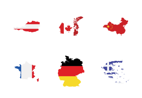 Country Maps with Flags
