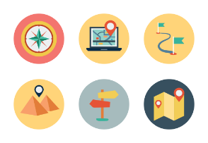 Maps and Navigation Flat Icons Vol 1
