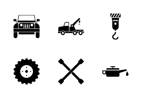 Mechanic Iconset With Blackout Style