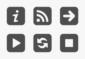 Media and Navigation Buttons - Square