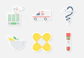 MEDICAL STICKER ICONS PART-1
