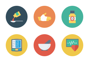 Medical & Health Flat Circle Icons vol 3