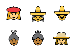 Men & Women icons from all over the world