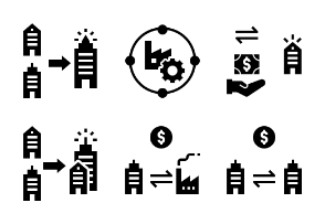 Merger and Acquisition Glyph