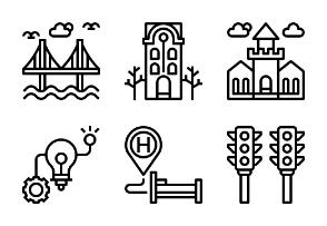 Modern Urban city  Outline