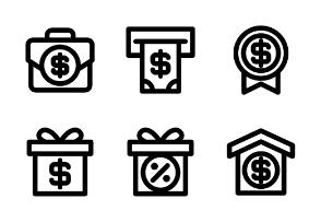 Money & Banking (Line Style)