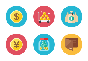 Money Icons - Rounded