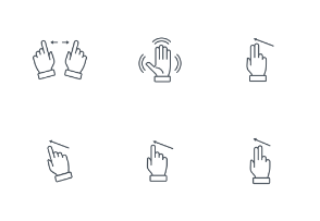 Multi touch, hand, finger, gesture theme