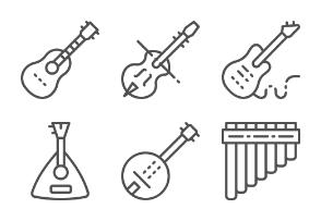 Musical Instruments  - Line set