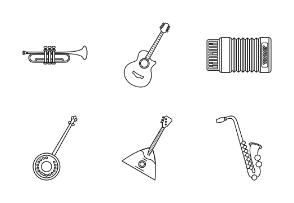 Musical instruments - outline