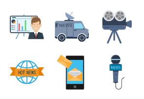 News and media icon set.