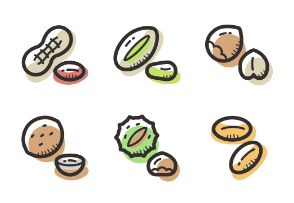 Nuts colored