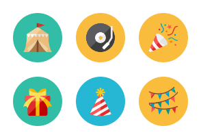 Party Icons - Rounded