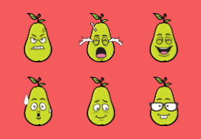 Pear Emoji Cartoons