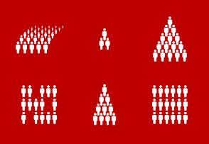 people groups abstract patterns, population density, virus contamination, social contacts