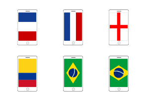Phone in flags