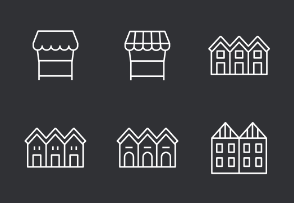 Place Thinline Icons Set