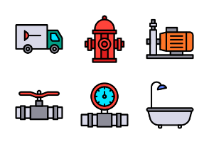 Plumber Tools (Filled Outline)