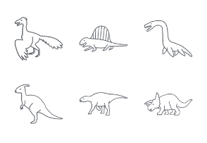 Prehistoric Animals Outlines