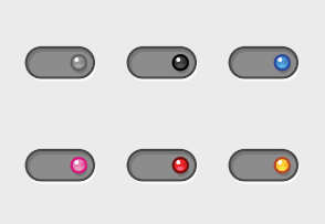 Radio buttons and switch