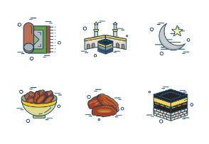 Ramadan Islam Religion Pray Line Filled