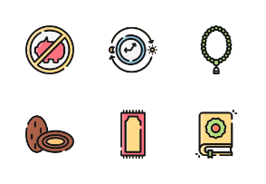 Ramadhan Kareem With Outline And Color Iconset