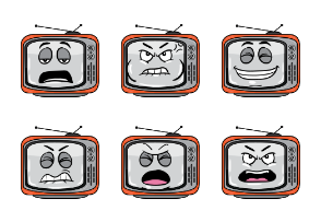 Retro TV Emoji Cartoons