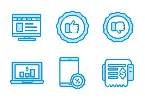 Sales and Online Shop 2 Monochrome Blue