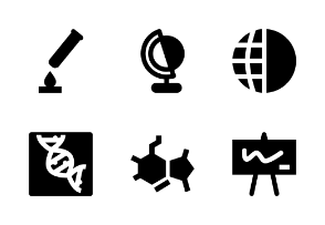 Science Material Glyph