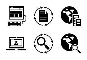 SEO and Business Glyph 2