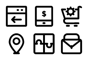 SEO and Marketing Bold Icons 4