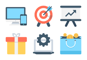 Seo and Marketing Icons 1