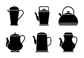 Set of Vintage Teapots