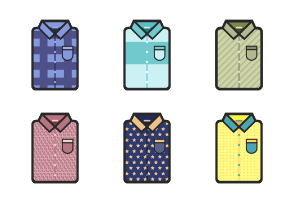 Shirts with different pattern with outline