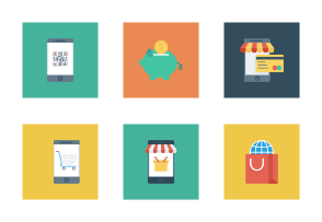 Shopping and E-Commerce Flat Square vol 3
