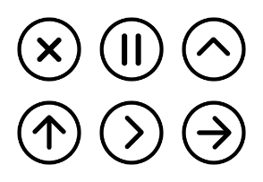 Simple Circular Icons: Line