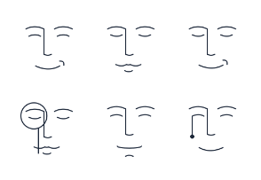 Simple happy facial expressions