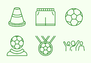 Simple Set of Football. Vector Line Icons.