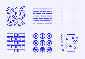 Simple Set of Simple Pattern. Vector Line Icons.