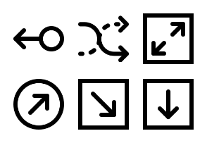 Smashicons Arrows MD - Outline - Vol 1