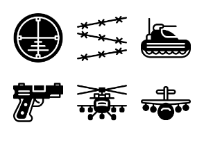 Smashicons Badges & Army - Solid - Vol 2