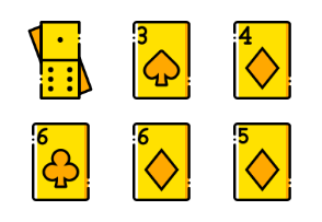 Smashicons Casino & Gambling - Yellow - Vol 1