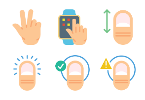 Smashicons Hand Gestures - Flat - Vol 1
